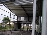 陽台鐵架雨棚,屋頂鐵皮遮雨棚,鐵皮屋頂施工,鐵架遮雨蓬,陽台鐵架遮雨蓬